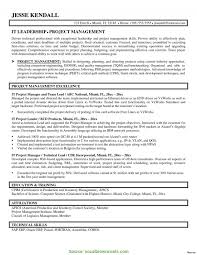 Fresh Project Manager Resume Objective Examples Project Manager