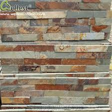 natural rusty slate ledge stone exterior wall decorative stone veneer wall cladding stone veneer interior wall cladding stone panel