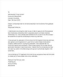 Cover Letter Sample For Phd Scholarship Reference Letter For ...