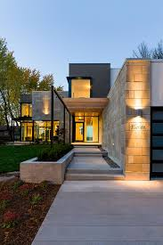view modern house lights. Contemporary Style House Designed With Nature In Mind: Glass Walls And Riverfront Views | Modern View Lights