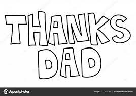 Bedankt Papa Kleurplaat Stockvector Keeweegirl 173530362