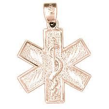 14k gold star of life symbol pendant