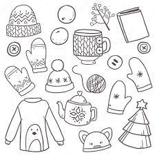 服の冬の要素を持つパターン ストックベクター Lunter 125606162