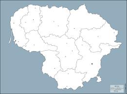 ليتوانيا خريطة مجانية, خريطة خاليه من الفراغ, خريطة الخطوط العريضة, خريطة  القاعدة الحرة الخطوط العريضة, مناطق, المدن الرئيسية