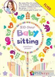 Babysitting Templates Flyers Babysitting Flyer Templates Free Bkperennials