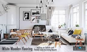 white wooden flooring adding an artistic and trendy look to living rooms