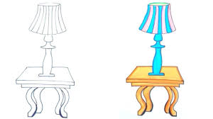 How To Draw A Lamp On A Table How To Draw For Kids In 2019 Easy