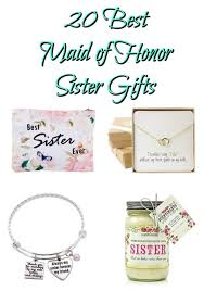 20 best sister maid of honor gifts