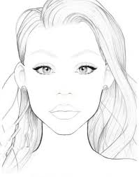 Blank Face Chart In 2019 Makeup Face Charts Face Template