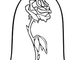 600x450 beauty and the beast stained gl coloring page freeappdaily me 2 340x270 enchanted rose etsy