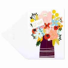 Get Well Card 3d Bouquet Get Well Card