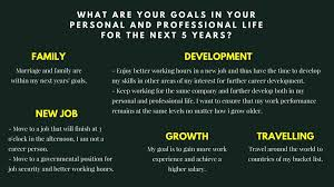 What Are Your Personal And Career Goals What Are Your Goals For The Future Life Goals List And