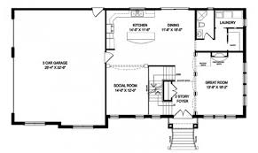 one story houses open floor plans