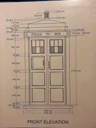 Tardis Design Plans Tardis Plans With Dimensions Doctor Who Tardis Doctor