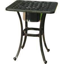 Ice Bucket Table Darlee Series 30 Cast Aluminum Patio End Table With Ice Bucket
