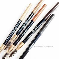new revlon colorstay brow pencils in blonde soft brown auburn dark brown