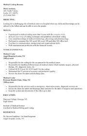 Sample Medical Coding Resume Resume Sample For A Medical Coder Susan