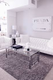 White Decor Living Room Gray White Living Room Decor White Tufted Sofa Prada Canvas