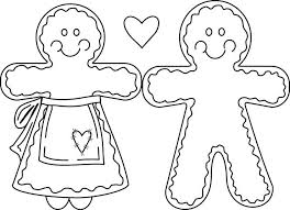 Marvelous Idea Gingerbread Girl Coloring Pages Boy And Collection