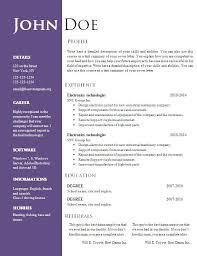 Resume Sample Doc Download Best Sample Resume Format Doc