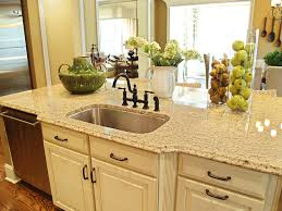 simple kitchen with ogee granite kitchen countertop edge oil rubbed bronze bridge kitchen faucet