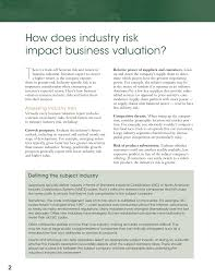 How Does Industry Risk Impact Business Valuation? - John M. Leask Ii ...