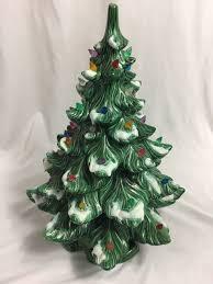Atlantic Mold Ceramic Christmas Tree Lights Vintage Atlantic Mold 20 Flocked Ceramic Christmas Tree