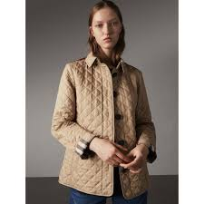Diamond Quilted Jacket in Canvas - Women | Burberry United Kingdom & Diamond Quilted Jacket in Canvas - Women | Burberry United Kingdom -  gallery image 6 Adamdwight.com