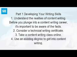 how do you become a content writer  how do you become a content writer