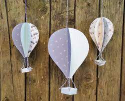 Use our free template to create this gorgeous paper hot air balloon craft. 3d Hot Air Balloons With Printable Template The Craft Blog