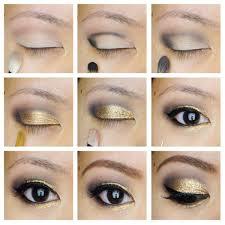 pretty golden eye makeup tutorial