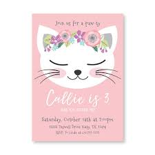 Party Invitation Images Free Kitten Party Invitations Cat Birthday Party Invitation Ki Unique
