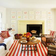 Red Living Room Rug Living Room Gallery Wall Art Picture Striped Red Area Rug Single