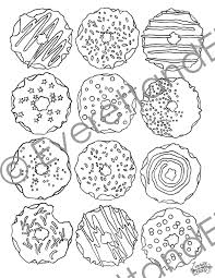 Small Picture Digital Download DONUTS Coloring Page