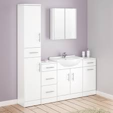 White Bathroom Suite Alaska Bathroom Furniture Pack 5 Piece White Gloss At Victorian