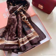 Designer Square Silk Scarves Designer Silk Scarf For Women Spring Luxury Brand Floral Flower Long Scarves Size 180x90cm Shawls Gift