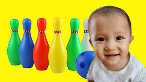 Trò Chơi Bowling Hình Con Sâu Cho Bé Learn Color Bowling ❤ BIBI ToysRevi...