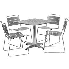 the 31 5 square restaurant table set fano is sleek