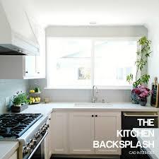 ceramic subway tile backsplash modern classic farmhouse kitchen design