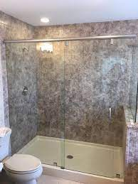an acrylic shower surround