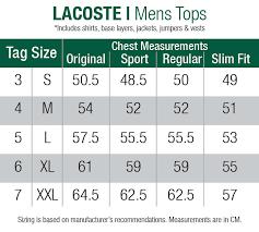 Lacoste Size Chart Jacket Lacoste L 12 12 Classic Polo Roquette