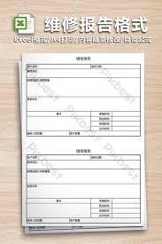 Maintenance Report Template Maintenance Report Format Form Excel Template Xls Free
