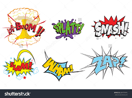 creative action words comics such smash stock vector  creative action words for comics such as smash slam wham zap comic