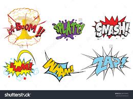 creative action words comics such smash stock vector 284770445 creative action words for comics such as smash slam wham zap comic