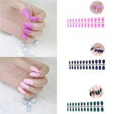 <b>Накладные ногти</b>, 24 шт., матовые, бордовые, серые, чистые ...