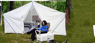 large canvas camping tent