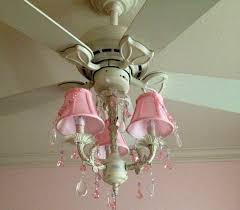 pink ceiling fan chandelier