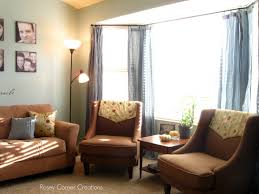 Living Room Bay Window Treatment Bay Windows Using Yellow Curtains And Valances Different Types