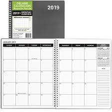 Clearance Sales Monthly Planner 2019 Calendar Appointment Book Grey Cover 8 5 X 11 Inches 15 Months Ap 002