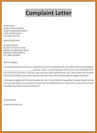 complaint letter examples claim letter examples complaint template sample insurance